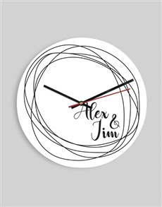gifts: Personalised Graphic Design Clock!