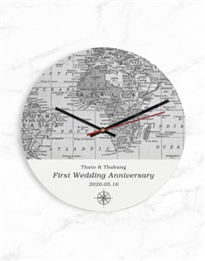 gifts: Personalised Black And White Map Clock!