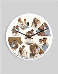 gifts: Personalised Family Collage Clock!