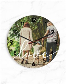gifts: Personalised Time For Love Clock!