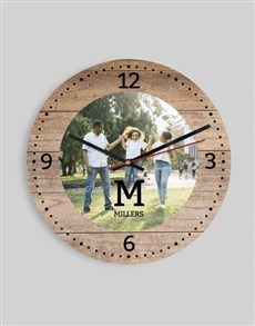 gifts: Personalised Initials & Photo Clock!