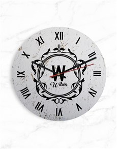 gifts: Personalised Roman Numerals Surname Clock!