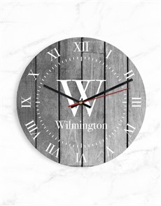 gifts: Personalised Roman Numerals Initial Clock!