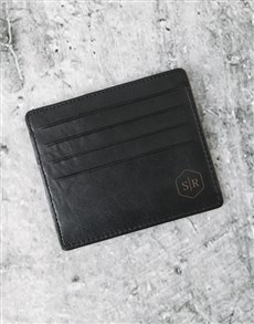 gifts: Personalised Professional Black Card Holder!