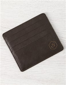 gifts: Personalised Brilliant Brown Leather Card Holder!