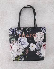 gifts: Personalised Dark and Dreamy Floral Tote Bag!