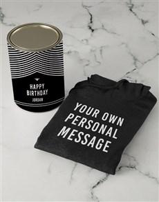 gifts: Personalised Black Special Message Hoodie!