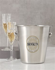 gifts: Personalised Name And Message Ice Bucket!