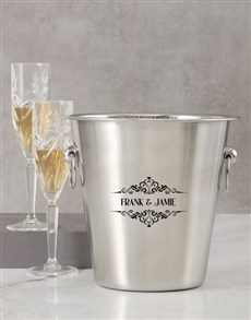 gifts: Personalised Couple Name Ice Bucket!