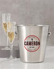 gifts: Personalised Emblem Ice Bucket!