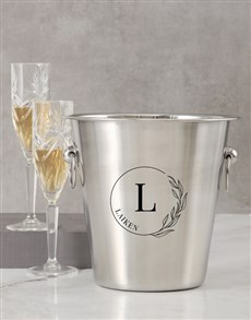gifts: Personalised Initial In Florals Ice Bucket!