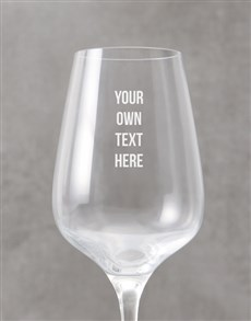 gifts: Personalised Bold Message Wine Glass!