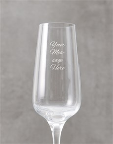 gifts: Personalised Cursive Message Champagne Flute!