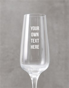 gifts: Personalised Message Champagne Flute!