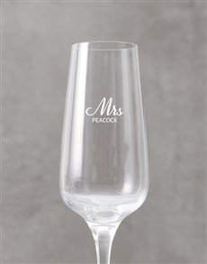 gifts: Personalised Mrs Champagne Flute!