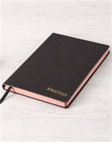 gifts: Personalised Silver And Sophisticated Notebook!