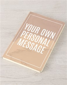 gifts: Personalised Message Rose Gold Notebook!
