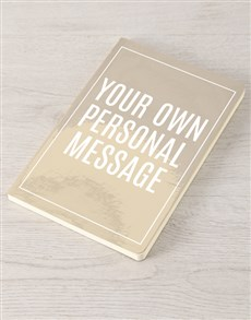 gifts: Personalised Message Gold Notebook !