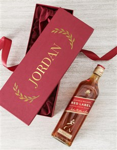 gifts: Personalised Name Johnnie Walker Red Gift Box!