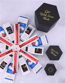 gifts: Personalised Get Well Lindt Surprise Box!