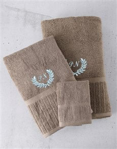 gifts: Personalised Pebble And Blue Towel Set!