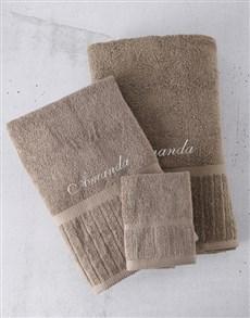 gifts: Personalised Regata Pebble Towel Set!