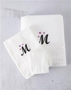 gifts: Personalised Regata White Towel Set!