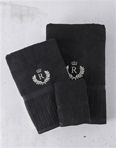 gifts: Personalised Silver Embroidery Towel Set!