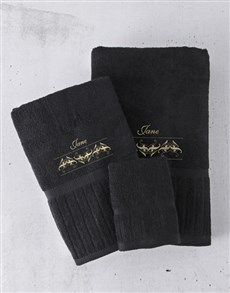 gifts: Personalised Gold Embroidery Towel Set!