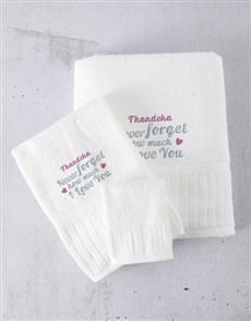 gifts: Personalised Blue Embroidery Towel Set!