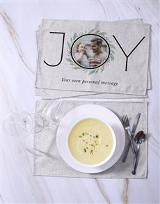 gifts: Personalised Joy Photo Placemats!