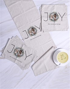 gifts: Personalised Joy Photo Table Linen!