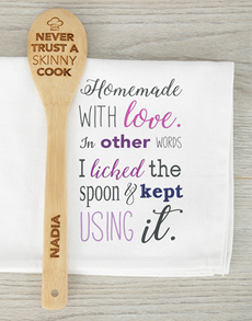 gifts: Personalised Skinny Chef Spoon!