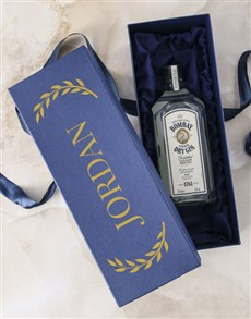 gifts: Personalised Name Bombay Sapphire Gift Box!
