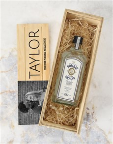 gifts: Personalised Bombay Gin Photo Crate !