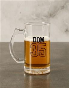 gifts: Personalised Number Beer Mug Gift Box!