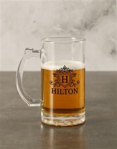 gifts: Personalised Initial Beer Mug Gift Box!