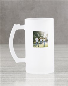 gifts: Personalised Message Frosted Beer Mug Gift Box!