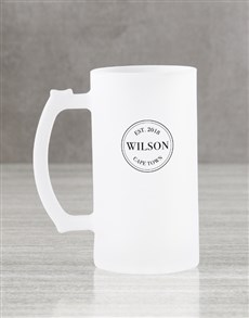gifts: Personalised Date Frosted Beer Mug Gift Box!