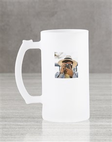 gifts: Personalised Photo Frosted Beer Mug Gift Box!