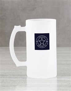 gifts: Personalised Star Frosted Beer Mug Gift Box!