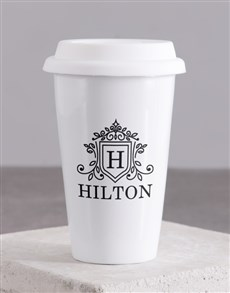 gifts: Personalised Surname Crest Travel Mug!