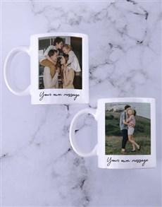 gifts: Personalised Photo And Message Mug Set!