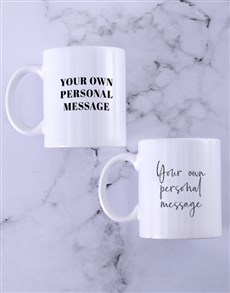 gifts: Personalised Message Mug Set!