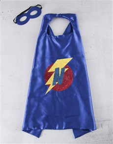 gifts: Personalised Lightning Initial Cape!