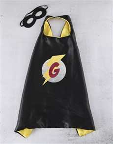 gifts: Personalised Initial Black Cape!