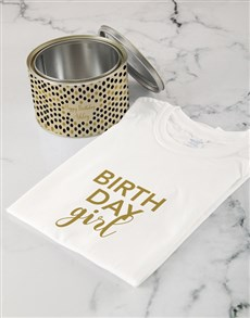 gifts: Personalised Birthday Girl Shirt In A Tin!