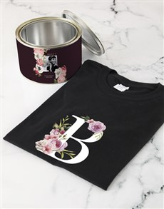 gifts: Personalised Peony Monogram Shirt In A Tin!