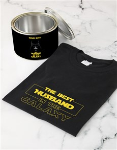 gifts: Personalised Best In The Galaxy Shirt In A Tin!