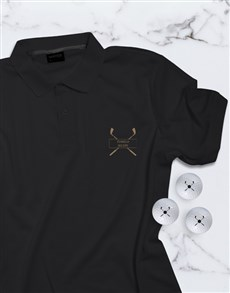 gifts: Personalised Get Golfing Polo And Golf Ball Set!